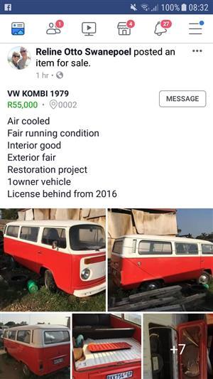 VW Kombi 1979 Volkswagen