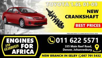 New Toyota Corolla 3ZZ 1.6L 01-09 Crankshaft FOR SALE