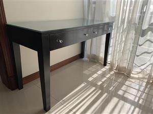Dark wooden drawer desk for sale