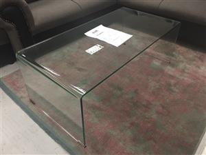 A8 glass coffee table