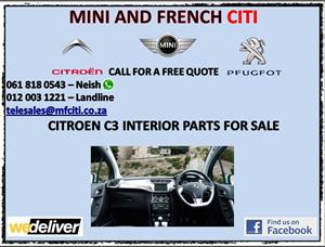 Citroen c3 interior parts for sale