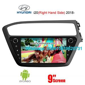 Hyundai i20 2018 uk au right hand side radio android GPS camera