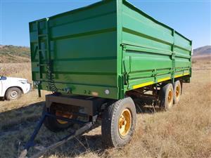 Green U Make Doubla Axle Bulk TRailer