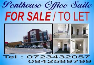 Penthouse office suite for sale or to let