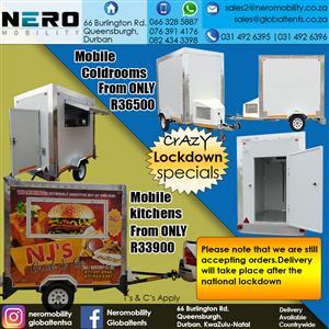 mobile kitchen- mobile coldrooms-mobile freezers-mobile toilets