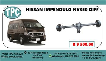 Nissan Impendulo NV350 Diff - For Sale at TPC