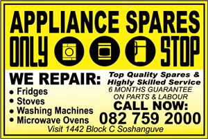 WE SELL APPLIANCE SPARES