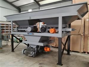 New Revaro RB800-2 Two Bin Hopper Aggregate Batching Plant Y-Design