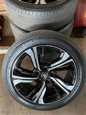 "17"" rim + tires215/50/17 114x5 pdc for Honda cars 60%"