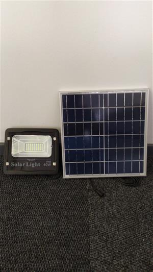 Solar flood lights with solar panel