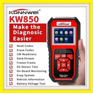 OBD2 Scanner KONNWEI KW850 Code Reader OBD II Cine Fault CAN (Upgraded Version)