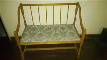 Ornamental two seater antique chair