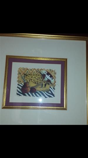 FOR SALE 2 FRAMED PAINTINGS BY HELEN CLAASSEN