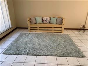 3 Seater Raw Wood Chair