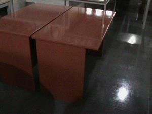Red straight desk