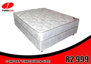 BRAND NEW BED !!!! COMFORT TIME  MATTRESS AND BASE FOR ONLY R2 999