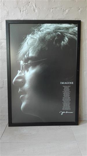 Framed celebrity prints