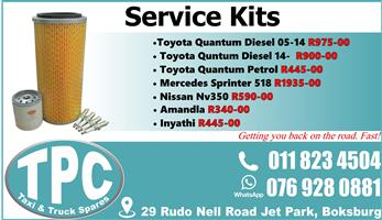 Service Kits - New - Quality Replacement Taxi Spare Parts.