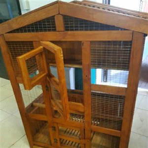 Gorgeous wooden Finch cage