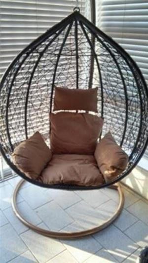 ANTHONY HANGING CHAIR – DIRECT FROM FACTORY WITH 12 MONTH WARRANTY. R150 COURIER NATIONALLY….