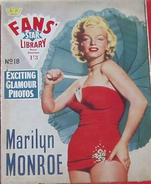 Fans' Star Library Marilyn Monroe Magazine #18 Rare 1950s In excellent condition