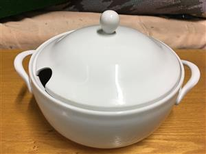 Large soup terrine dish with lid