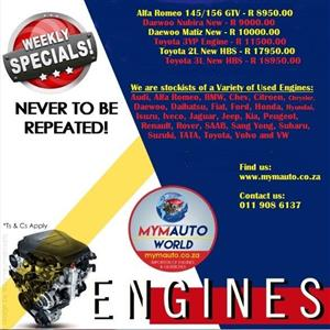 Complete Second hand used engines