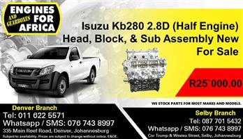 Isuzu Kb280 2.8D (Half Engine) Head, Block & Sub Assembly New For Sale