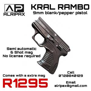 9mm self-defence blank pistol/gun