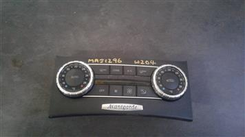 MERCEDES BENZ W204 SECOND HAND CLIMATE CONTROL UNIT FOR SALE