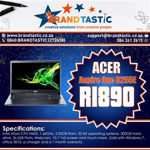 Acer Aspire One D255E Notebook @ R1890 for sale  Durban North