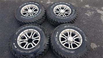 "15"" Rims 6 Hole Bridgestone - Dueler tyres for sale."