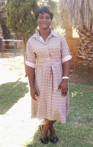 Memory30) with Experience as a Nanny/Maid from Vereeniging needs stay in/out