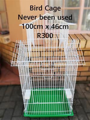 New green and white bird cage for sale