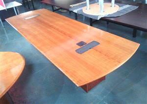 10-12 seat boardroom table veneer