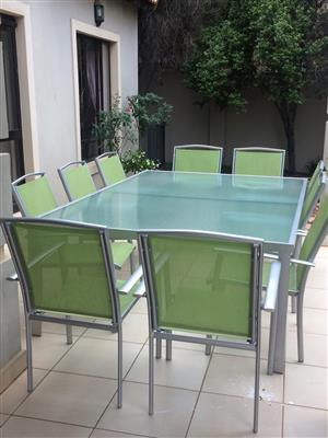 Patio Table with chairs & Pool Lounges