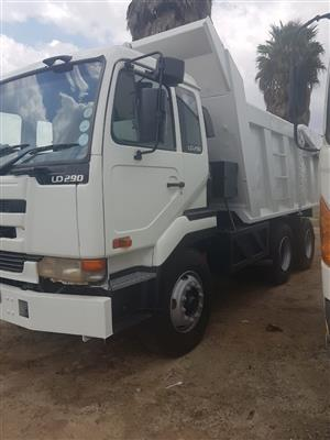 2006 Nissan UD290, 10Cube tipper truck for sale