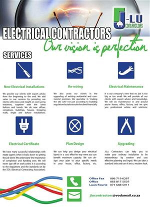 ALL ELECTRICAL INSTALLATIONS, REWIRING AND MAINTENANCE SPECIAL