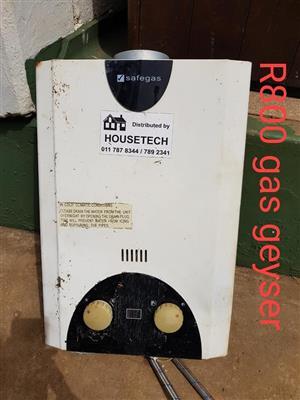 Gas geyser te koop
