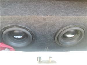 10inch Targa subs in box + Pioneer Usb Aux Tape