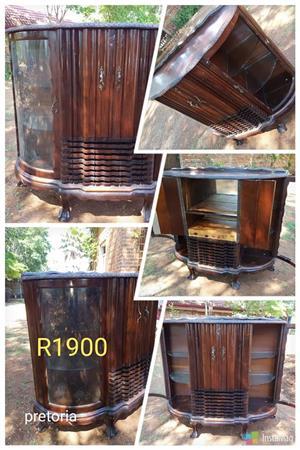 Antique wooden shelf showcase
