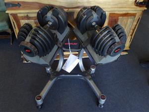 Bowflex Dumbells on Stand