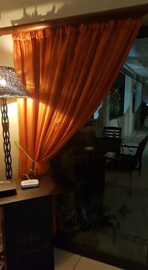 Orange curtains for sale