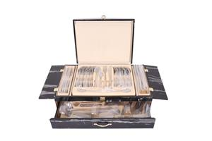 Mafy 84 Piece Stainless Steel Cutlery Set in Wooden Case
