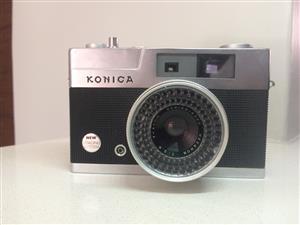 Konica EE Matic S Vintage Film Camera Rangefinder