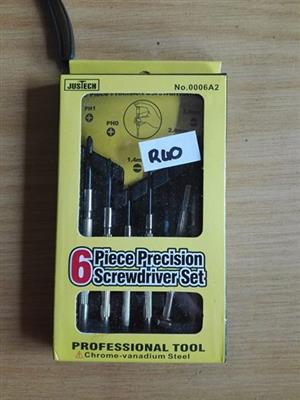 6 Piece precision screwdriver set for sale