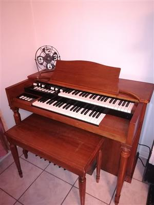 Hammond A105 Full pedal, all valve church organ with Leslie speaker for sale