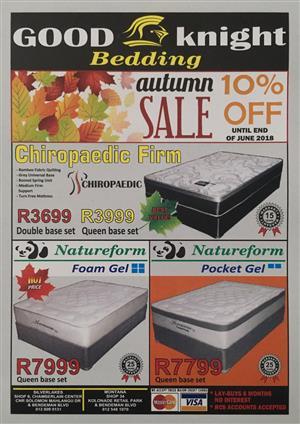 Autumn Sale At Good Knight Bedding Pretoria