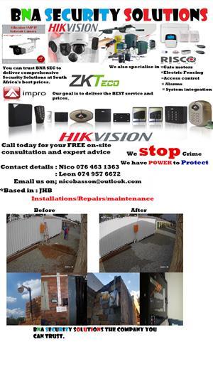 Cctv/gate motors/alarms/access control