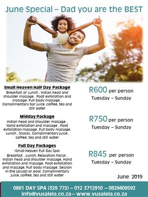 June Special at Vusalela Day Spa